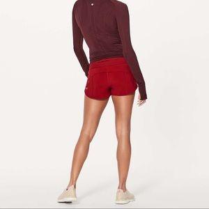Lululemon Speed Up Mid-Rise Scarlet Shorts